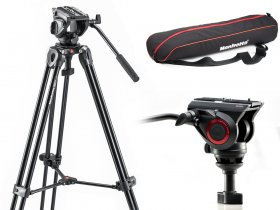 Manfrotto zestaw video MVT502AM + 500A statyw z głowicą + torba